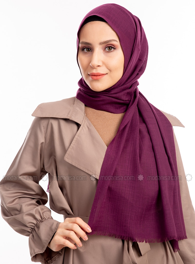 Plum - Plain - Shawl