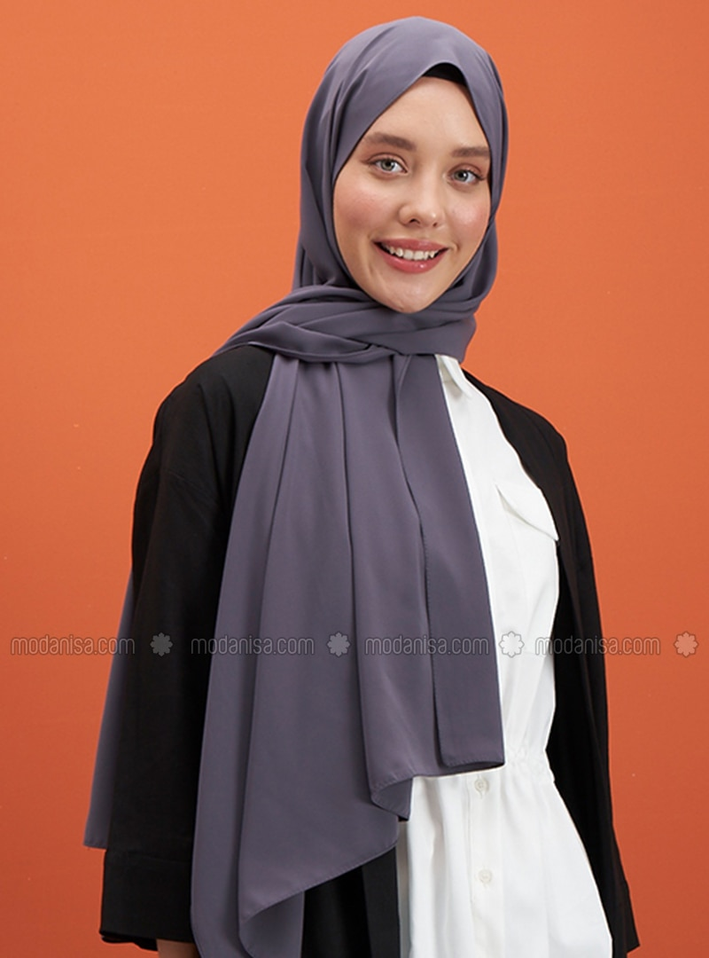 Anthracite - Plain - Shawl
