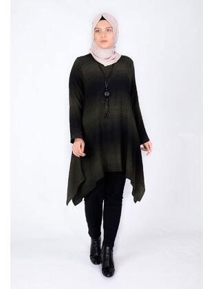 Khaki - Plus Size Tunic