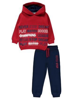 Red - Boys` Tracksuit - Civil