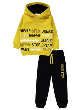 Yellow - Boys` Tracksuit - Civil