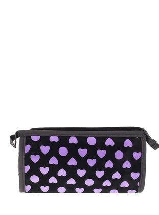 Lilac - Black - Clutch - Clutch Bags / Handbags