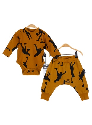 Multi - Crew neck -  - Unlined - Mustard - Baby Suit
