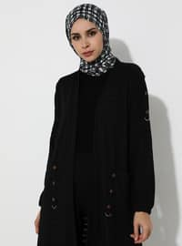 Black - Viscose - Cardigan