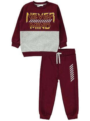 Maroon - Boys` Tracksuit - Civil