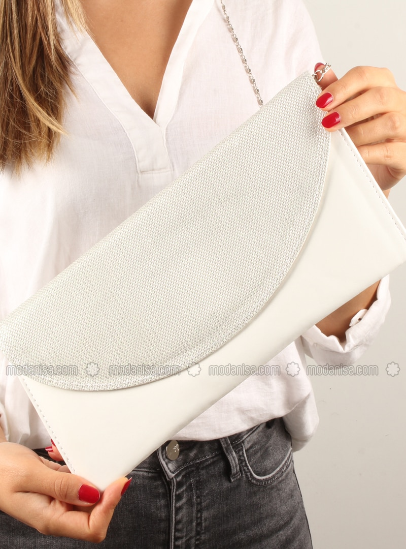 White - Satchel - Clutch - Clutch Bags / Handbags