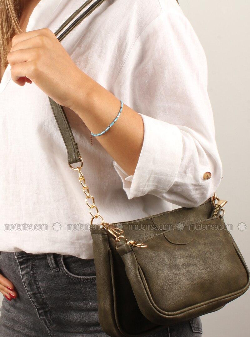 Green - Satchel - Shoulder Bags