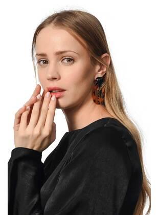 Brown - Earring