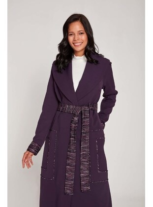 Purple - Fully Lined - Trench Coat