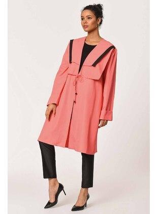Coral - Unlined - V neck Collar - Jacket