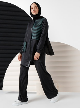 Emerald - Stripe - Viscose - Suit