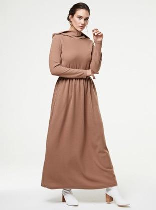Mink - Unlined - Cotton -  - Knit Dresses