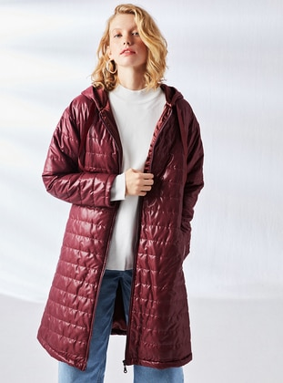 Maroon - Fully Lined - Puffer Jackets