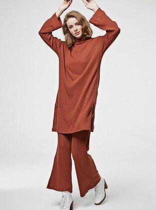 Terra Cotta - Unlined - Cotton - - Knit Suits