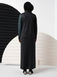Emerald - Stripe - Crew neck - Viscose - Dress