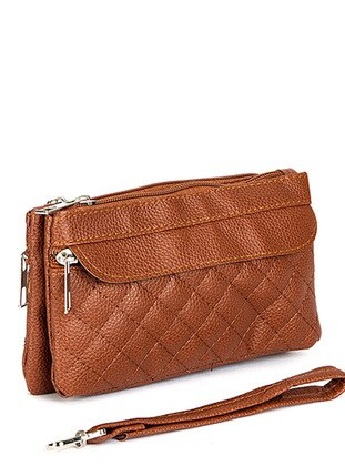 Tan - Clutch - Wallet