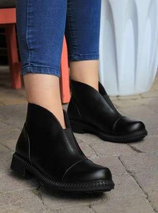 Black - Boot - Boots - ADDİS SHOES