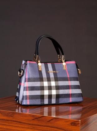 Polyurethane - Navy Blue - Satchel - Shoulder Bags