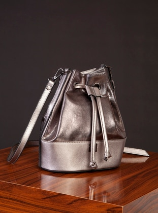 Polyurethane - Silver tone - Silver - Satchel - Shoulder Bags