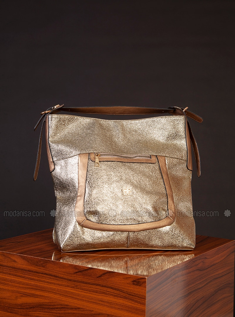 Gold - Satchel - Shoulder Bags