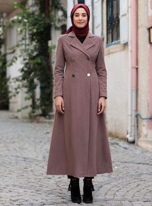 Dusty Rose - Fully Lined - Shawl Collar - Coat
