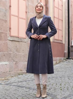 Indigo - Fully Lined - Shawl Collar - Coat