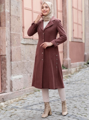 Cinnamon - Fully Lined - Shawl Collar - Coat