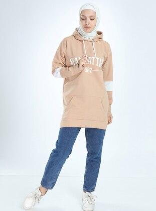 Cotton - Beige - Sweat-shirt