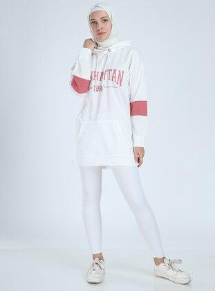 Cotton - White - Sweat-shirt