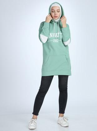 Cotton - Khaki - Sweat-shirt