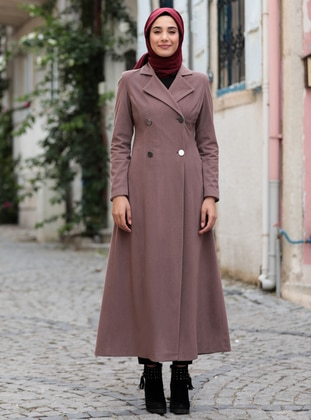 Dusty Rose - Dusty Rose - Fully Lined - Shawl Collar - Dusty Rose - Fully Lined - Shawl Collar - Coat