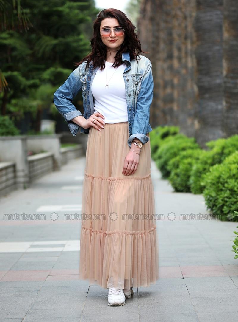 Brown - Fully Lined - Skirt