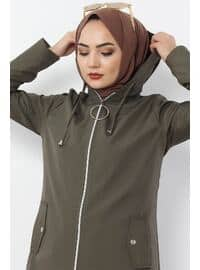 Khaki - Puffer Jackets
