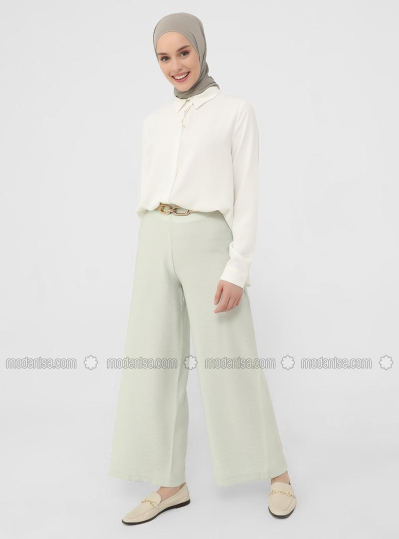 Green - Pants - Casual