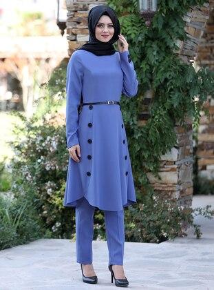 Baby Blue - Unlined - Crepe - Suit
