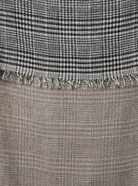 Black - Mink - Printed - Shawl Wrap
