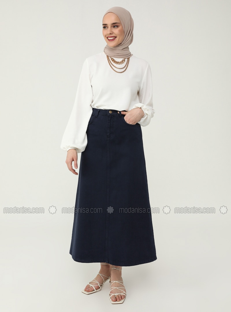 Natural Fabric Skirt&Blouse Set