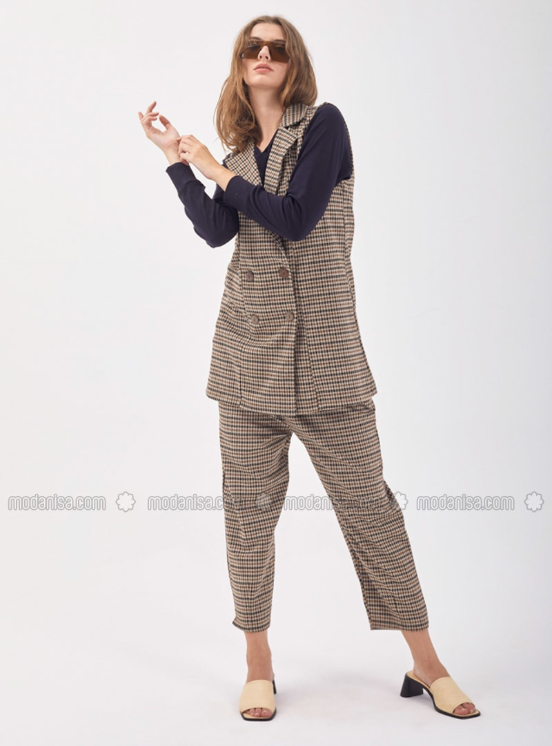Multi - Houndstooth - Unlined - Suit