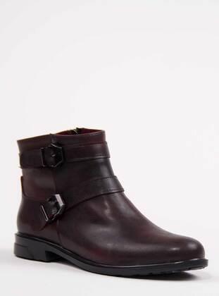 Maroon - Maroon - Boot - Boots