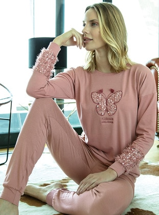Dusty Rose - Crew neck - Pyjama Set