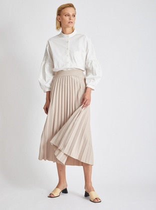 Stone - Unlined -  - Skirt