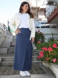 Indigo - Navy Blue - Unlined -  - Skirt