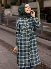 Black - Green - Checkered - Point Collar - Tunic