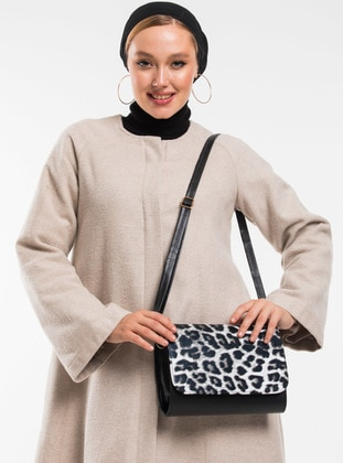 Leopard - Black - Satchel - Shoulder Bags