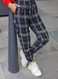 Gray - Black - Checkered - Pants