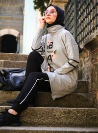 Gray - - Polo neck - Tracksuit Set