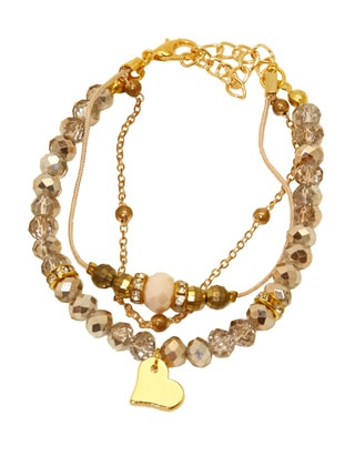 Beige - Gold - Bracelet