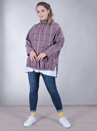 Checkered - Fuchsia - Sweat-shirt