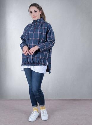 Checkered - Indigo - Sweat-shirt
