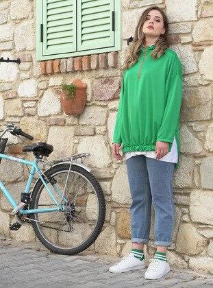 Checkered - Green - Sweat-shirt